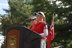Ομιλία Hometown αδελφών Henderson Στοκ εικόνες με δικαίωμα ελεύθερης χρήσης
