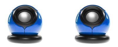 ομιλητές δύο υπολογιστώ Στοκ Φωτογραφίες