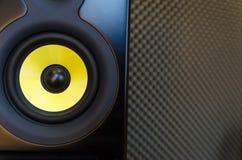 Ομιλητής/μεγάφωνο στούντιο μουσικής Στοκ εικόνες με δικαίωμα ελεύθερης χρήσης