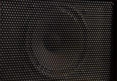 Ομιλητής μουσικής για την καθαρή μαύρη σύσταση Στοκ Εικόνα