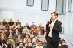 Ομιλητής στην επιχειρησιακή σύμβαση στοκ φωτογραφίες