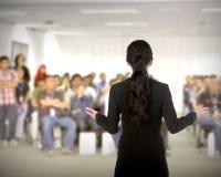 Ομιλητής στη διάσκεψη και την παρουσίαση Στοκ Εικόνα