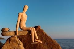 Ομοίωμα στην ισορροπία Στοκ φωτογραφία με δικαίωμα ελεύθερης χρήσης