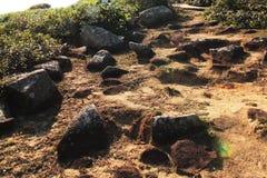 Ομοιόμορφοι βράχοι σε μια ανερχόμενος κλίση Στοκ εικόνες με δικαίωμα ελεύθερης χρήσης