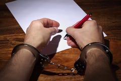 ομολογία συμφωνίας που αναγκάζεται Στοκ εικόνες με δικαίωμα ελεύθερης χρήσης