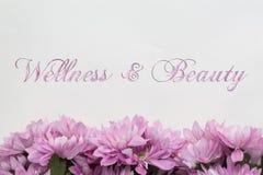 Ομορφιά αγγελιών Wellness - θέμα με τα ρόδινα λουλούδια Στοκ φωτογραφίες με δικαίωμα ελεύθερης χρήσης