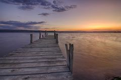 Ομορφιά και ήρεμο ηλιοβασίλεμα στοκ εικόνες με δικαίωμα ελεύθερης χρήσης