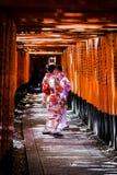 Ομορφιά κιμονό του Κιότο στοκ φωτογραφίες
