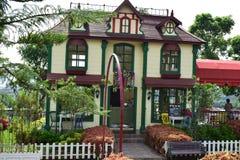 Ομορφιά λίγο σπίτι στον κήπο lembang bandung Ινδονησία στοκ φωτογραφίες