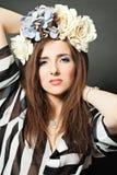 Ομορφιά μόδας Μοντέλο μόδας γυναικών στοκ εικόνες