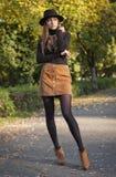 Ομορφιά μόδας φθινοπώρου στοκ εικόνες
