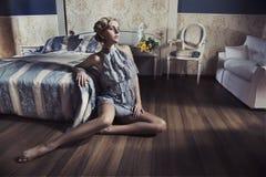 ομορφιά ξανθή Στοκ εικόνα με δικαίωμα ελεύθερης χρήσης