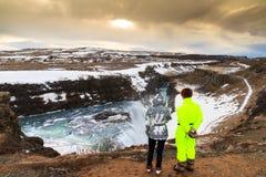 Ομορφιά σε Gullfoss Στοκ Φωτογραφία