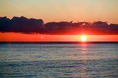 Ομορφιά της θάλασσας βραδιού Στοκ φωτογραφίες με δικαίωμα ελεύθερης χρήσης