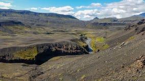 Ομορφιά τοπίων της Ισλανδίας στην Ευρώπη Στοκ Εικόνες