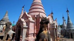 Ομορφιά του αρχαίου βουδιστικού ναού Kakku, Taunggyi, το Μιανμάρ φιλμ μικρού μήκους