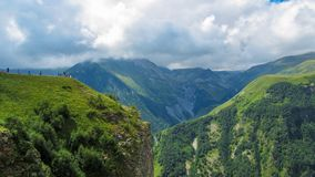 Ομορφιά του υποβάθρου έννοιας φύσης Επικολλήστε Kazbek στοκ εικόνες