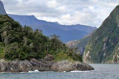 Ομορφιά των ήχων Milford, Νέα Ζηλανδία στοκ φωτογραφία