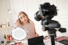 Ομορφιά blogger Στοκ Εικόνα