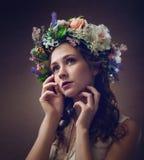 Ομορφιά Ethno όμορφες νεολαίες γυναικών στοκ φωτογραφία με δικαίωμα ελεύθερης χρήσης