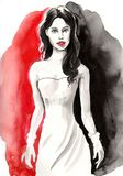 Ομορφιά Watercolor Στοκ φωτογραφίες με δικαίωμα ελεύθερης χρήσης