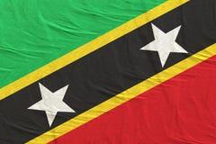 Ομοσπονδία του κυματισμού σημαιών του St. Christopher και Nevis διανυσματική απεικόνιση