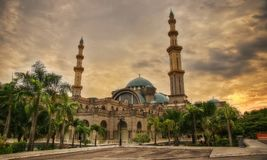 Ομοσπονδιακό μουσουλμανικό τέμενος Κουάλα Λουμπούρ Μαλαισία Wilayah Persekutuan Masjid Στοκ φωτογραφία με δικαίωμα ελεύθερης χρήσης