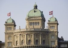 ομοσπονδιακό παλάτι bundeshaus Στοκ Φωτογραφία