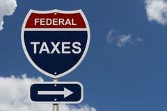 Ομοσπονδιακοί φόροι αυτός ο τρόπος Στοκ Εικόνα