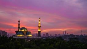 Ομοσπονδιακό μουσουλμανικό τέμενος εδαφών στη Κουάλα Λουμπούρ Στοκ Εικόνες