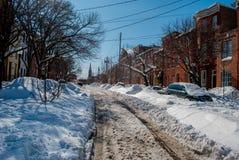 Ομοσπονδιακό Hill, Βαλτιμόρη: Snowpocalypse Στοκ Εικόνες