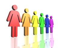ομοφυλοφιλικές δευτ&epsi Διανυσματική απεικόνιση