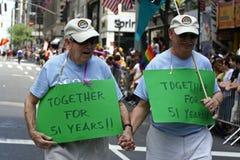 ομοφυλοφιλική νέα parade2 υπερηφάνεια Υόρκη Στοκ εικόνες με δικαίωμα ελεύθερης χρήσης