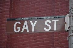 ομοφυλοφιλική οδός Στοκ Εικόνες