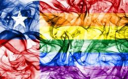 Ομοφυλοφιλική σημαία καπνού της Χιλής, σημαία της Χιλής Στοκ φωτογραφία με δικαίωμα ελεύθερης χρήσης