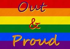 Ομοφυλοφιλική υπερηφάνεια - είμαι έξω και είμαι υπερήφανος Στοκ Εικόνα