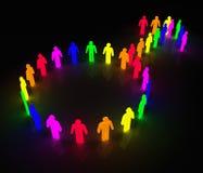 ομοφυλοφιλικό σύμβολο ατόμων πυράκτωσης Ελεύθερη απεικόνιση δικαιώματος