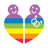 ομοφυλοφιλικό σύμβολ&omicron Στοκ Εικόνες