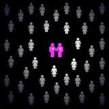 ομοφυλόφιλος ζευγών διανυσματική απεικόνιση