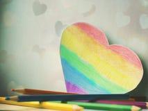 Ομοφυλοφιλική μορφή καρδιών Στοκ Εικόνα