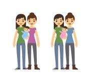 Ομοφυλοφιλική οικογένεια Στοκ εικόνα με δικαίωμα ελεύθερης χρήσης