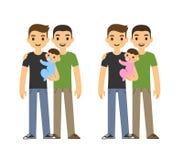 Ομοφυλοφιλική οικογένεια Στοκ Εικόνες