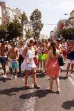 Ομοφυλοφιλική παρέλαση Τελ Αβίβ 2013 υπερηφάνειας Στοκ Εικόνες