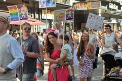Ομοφυλοφιλική παρέλαση 2013 υπερηφάνειας στη Στοκχόλμη Στοκ Εικόνα