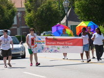 Ομοφυλοφιλική παρέλαση υπερηφάνειας του Αουγκούστα Στοκ φωτογραφία με δικαίωμα ελεύθερης χρήσης