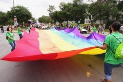 Ομοφυλοφιλική παρέλαση υπερηφάνειας του Μόντρεαλ Στοκ Εικόνες
