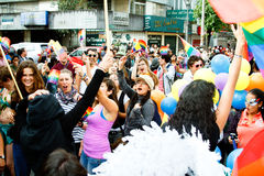 Ομοφυλοφιλική παρέλαση Στοκ Εικόνες