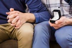 Ομοφυλοφιλική πρόταση ζευγών στοκ φωτογραφία με δικαίωμα ελεύθερης χρήσης