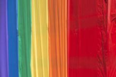 Ομοφυλοφιλική σημαία ειρήνης ουράνιων τόξων υπερηφάνειας Στοκ Φωτογραφίες