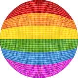 Ομοφυλοφιλική σφαίρα υπερηφάνειας στο μωσαϊκό απεικόνιση αποθεμάτων
